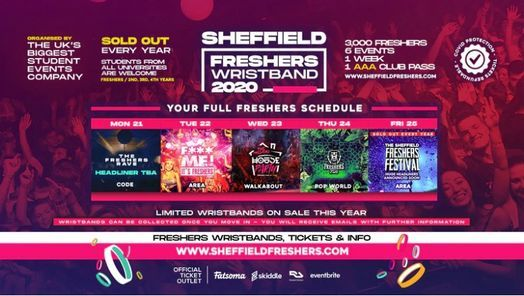 The Sheffield Freshers Wristband // Sheffield Freshers 2020, 8 February | Event in Sheffield | AllEvents.in