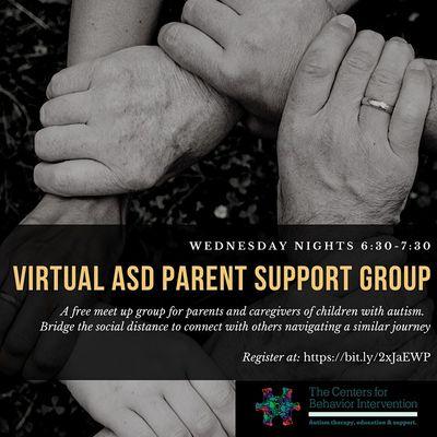 CBI ASD Virtual Parent and Caregiver Support Group