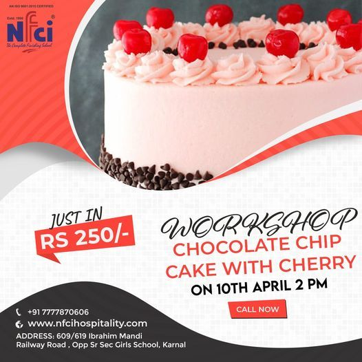 Chip Chocolate Cake Making Workshop | Event in Karnal | AllEvents.in