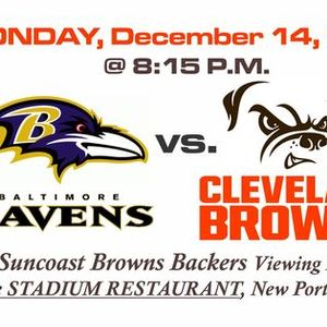 Ravens vs Browns Viewing Event