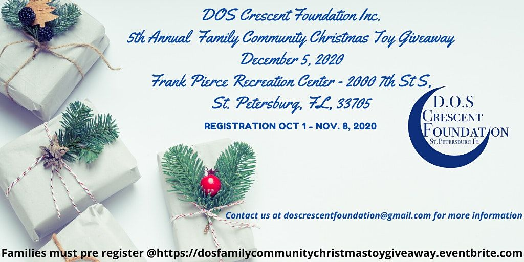 Christmas Toy Giveaway 2020 D.O.S. Crescent Foundation Inc. 5th Annual Family Christmas Toy