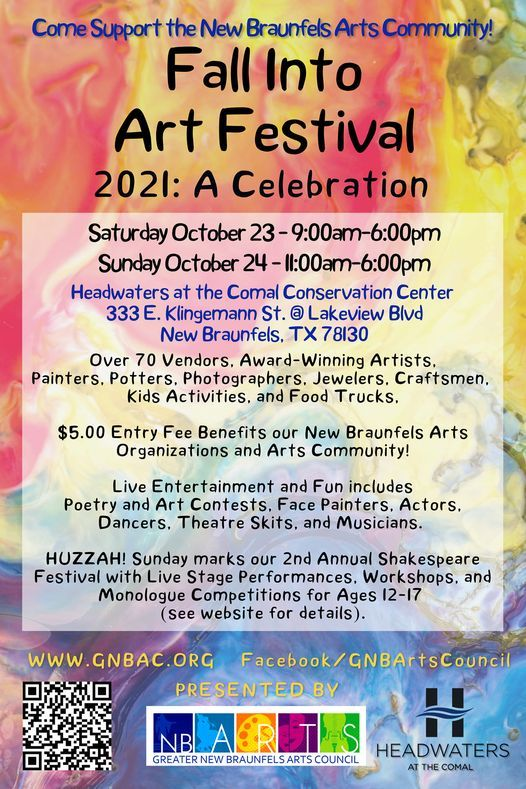 Fall Into Art Festival 2021: A CELEBRATION!, 23 October | Event in New Braunfels | AllEvents.in