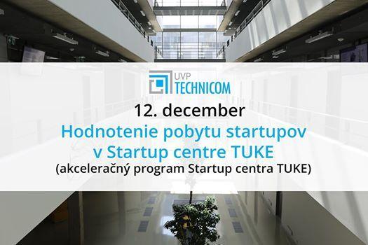 Hodnotenie pobytu startupov v Startup centre TUKE