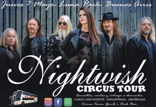 Nightwish desde Córdoba con Circus TOURS, 22 January | Event in Buenos Aires | AllEvents.in