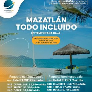 MAZATLN TODO INCLUDO  (26 jun - 1 jul)