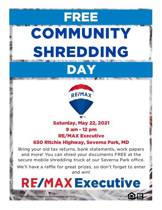 FREE Community Shred Event - Severna Park, 22 May | Event in Severna Park | AllEvents.in