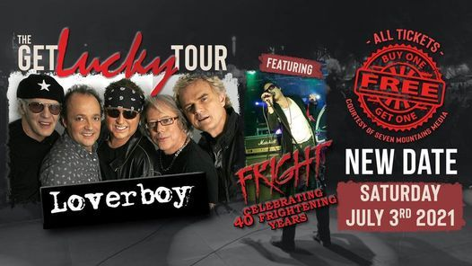 The Get Lucky Tour: Loverboy with special guest Fright | JULY 3th 2021, 3 July | Online Event | AllEvents.in