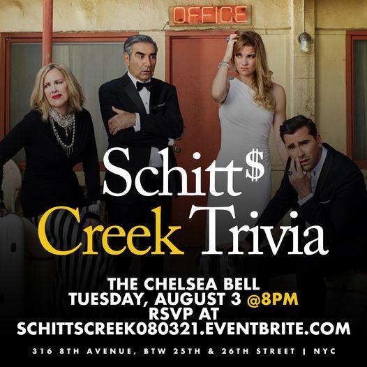 Schitt's Creek Trivia, 3 August   Event in New York   AllEvents.in