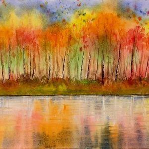 Autumn Colours in Watercolour
