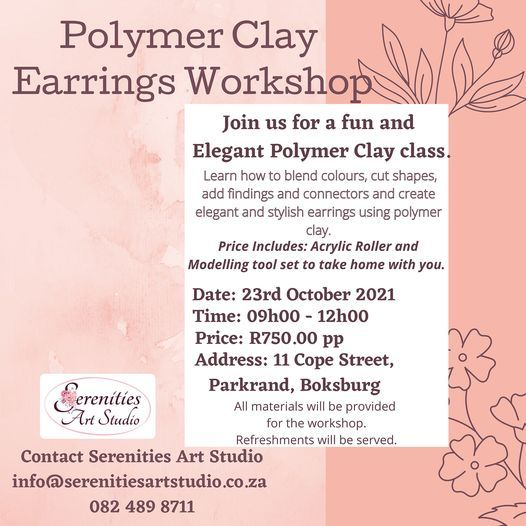 Polymer Clay Earring Workshop   Event in Boksburg   AllEvents.in