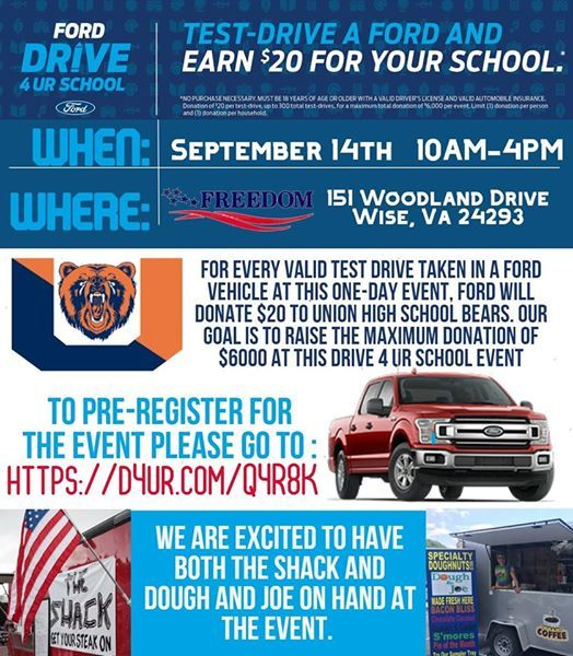 Freedom Ford Wise Va >> Drive 4ur Union Bears At Freedom Ford Lincoln Of Wise Va Wise