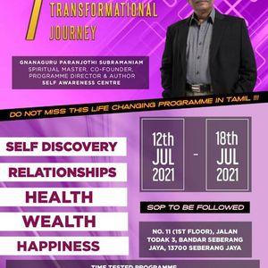 7 DAY TRANSFORMATIONAL JOURNEY