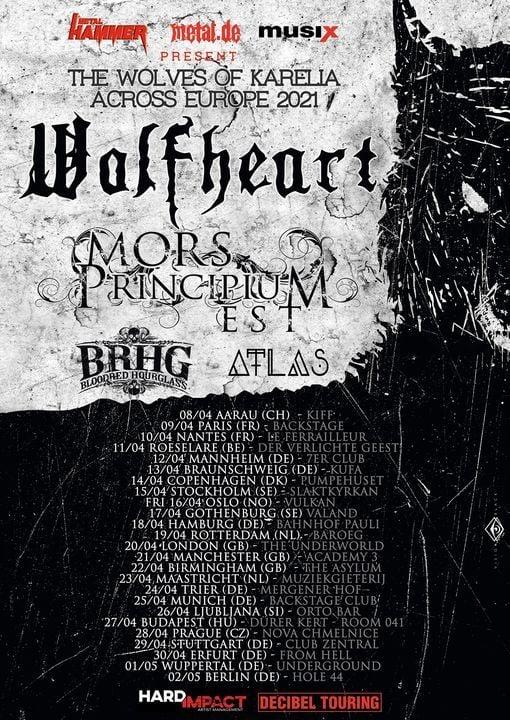 Wolfheart, Mors Principium Est, Bloodred Hourglass, Atlas, 22 April | Event in Birmingham | AllEvents.in