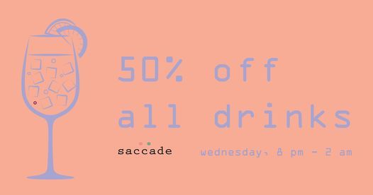 Midweek buzz 50% OFF all drinks
