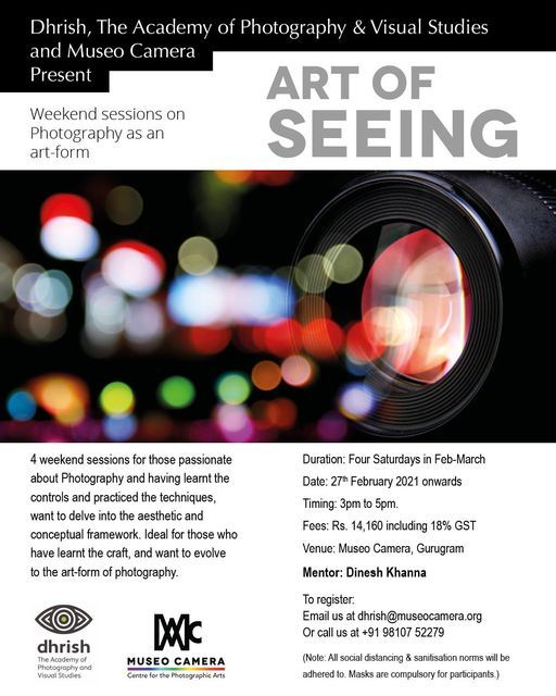 The Art of Seeing : The advanced Photography Course | Event in Faridabad | AllEvents.in