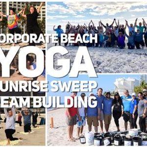 Corporate Beach Yoga Event
