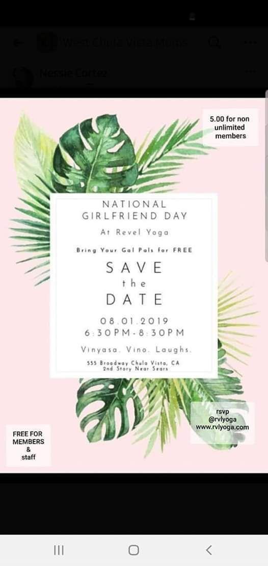 National Girlfriends Day at Revel Yoga, Chula Vista