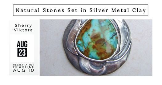 Natural Stones Set in Silver Metal Clay