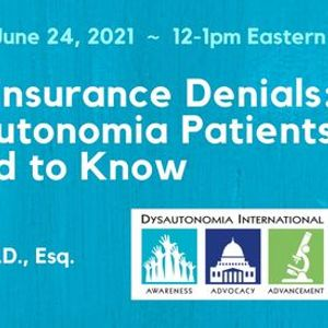 Webinar Appealing Insurance Denials What Dysautonomia Patients Need to Know