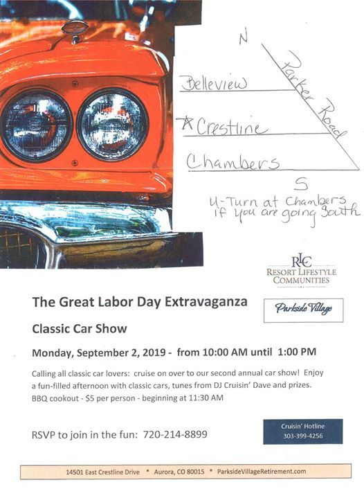 The Great Labor Day Extravaganza Classic Car Show At 14501 E