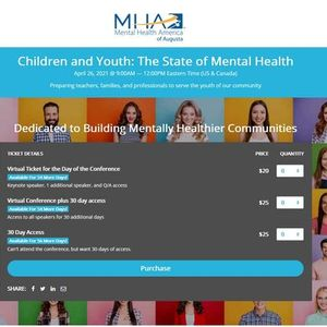Children and Youth The State of Mental Health Virtual Conference (Fee)