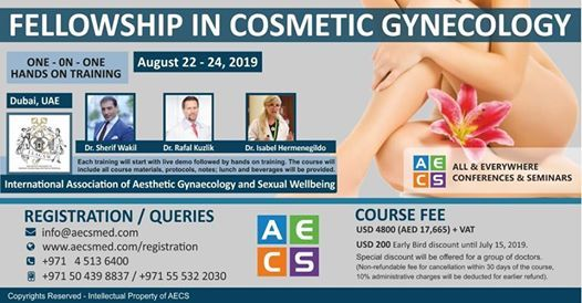 Fellowship in Cosmetic Gynecology by Iaagsw at AECS MED, Dubai