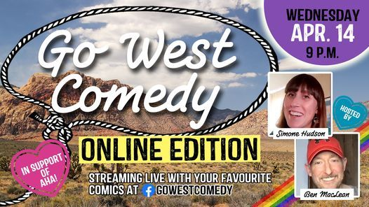 Go West Comedy Online Edition! #9, 14 April | Online Event | AllEvents.in