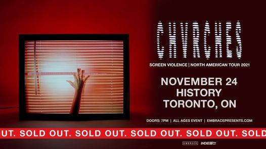 CHVRCHES @ History   November 24th, 24 November   Event in Toronto   AllEvents.in