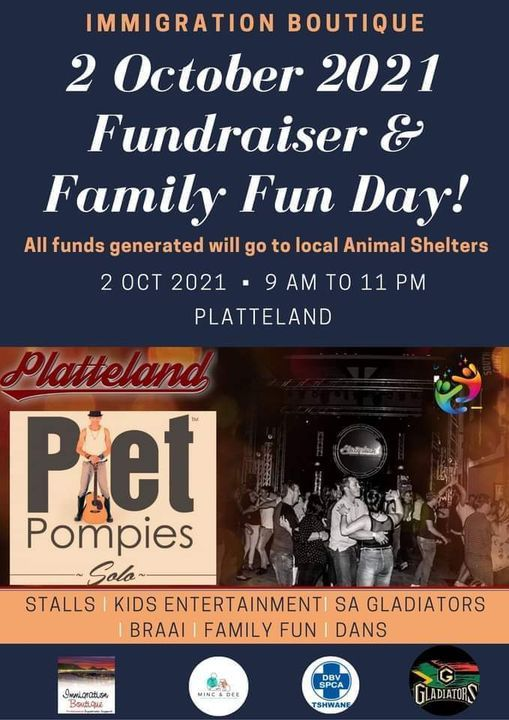 FUNDRAISER FAMILY FUN DAY hosted by Immigration Boutique, 2 October | Event in Tembisa | AllEvents.in