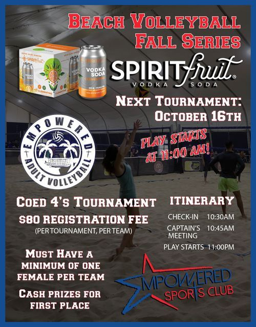 Spirit Fruit Beach Volleyball Fall Series Coed 4's Tournament   Event in Fort Wayne   AllEvents.in