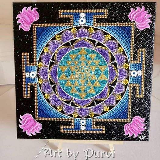 Advanced 4 Days Dot Mandala Workshop (Sri yantra) at Punggol