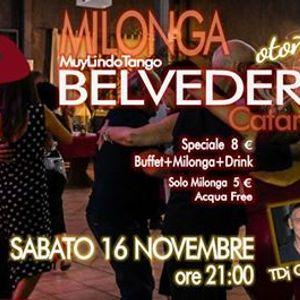 Milonga Belvedere - Sabato 16 Novembre - MuyLindoTango