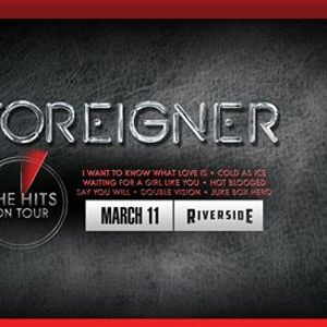 Foreigner at the Riverside Theater