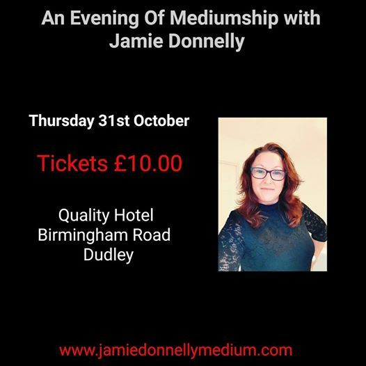 Halloween Evening Of Mediumship With Jamie Donnelly