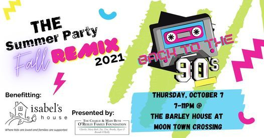 THE Summer Party: FALL REMIX to benefit Isabel's House, 7 October   Event in Springfield   AllEvents.in