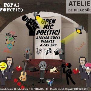 HALD OPEN MIC POE(Tic) en Atelier Gell con Teresa Estvez