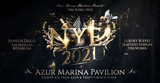 Azur Marina Pavilion presents New Year's Eve 2021, 31 December   Event in Hastings   AllEvents.in