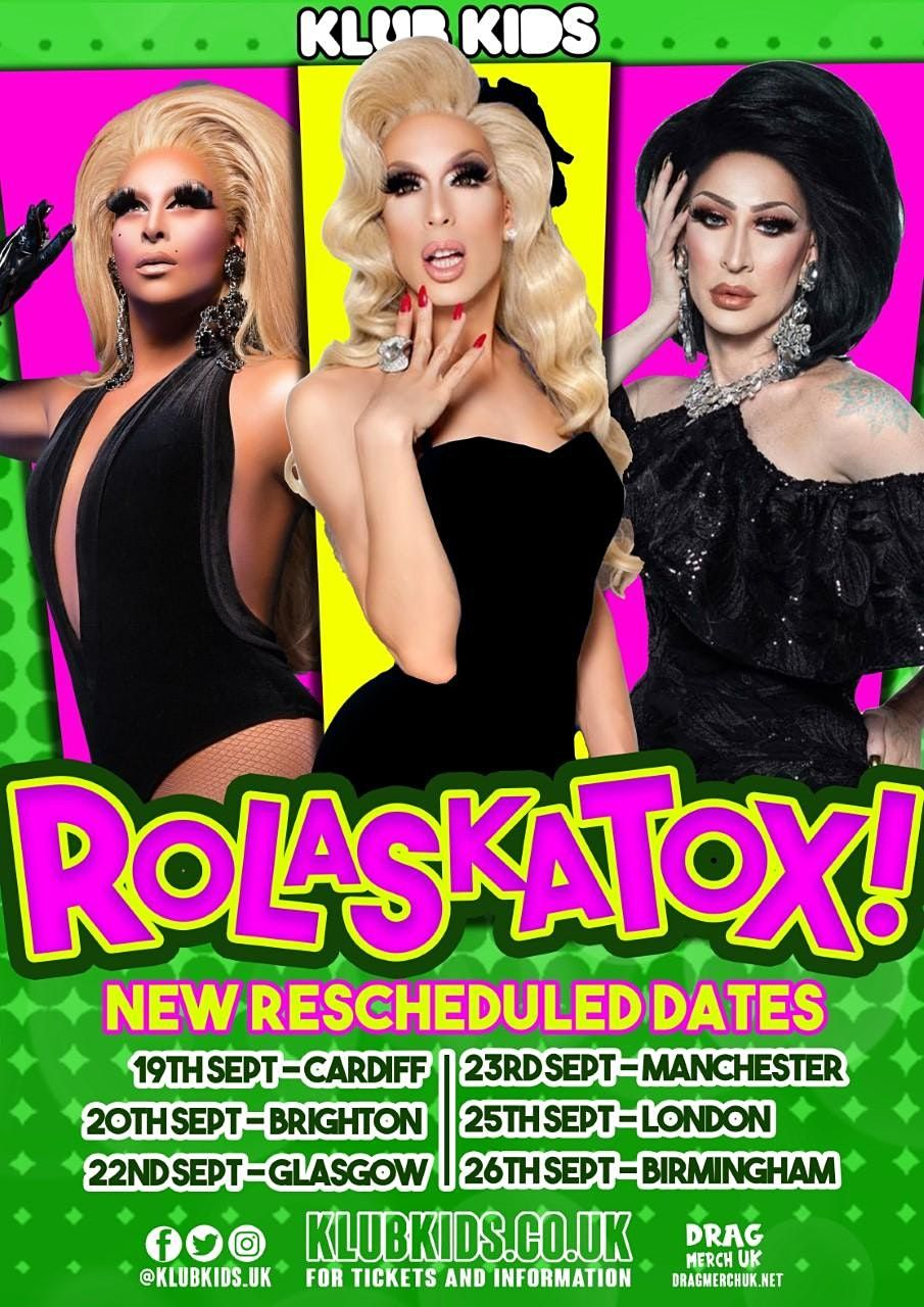 Klub Kids Manchester presents The Ro-Laska-Tox Reunion Tour (ages 14+), 23 September | Event in Manchester