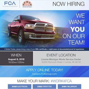 FCA Hiring Event
