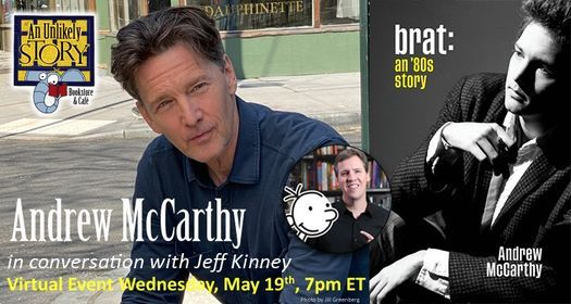 Andrew McCarthy with Jeff Kinney - Registration Required, 19 May | Online Event | AllEvents.in