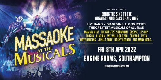 Massaoke: A Night at the Musicals at Engine Rooms | Southampton, 16 April | Event in Southampton | AllEvents.in