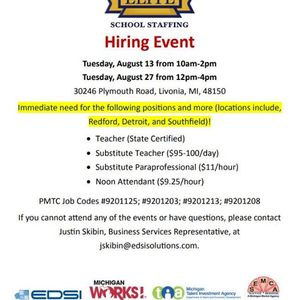 Elite School Staffing Hiring Event