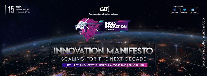 15th Edition of India Innovation Summit 2019-20