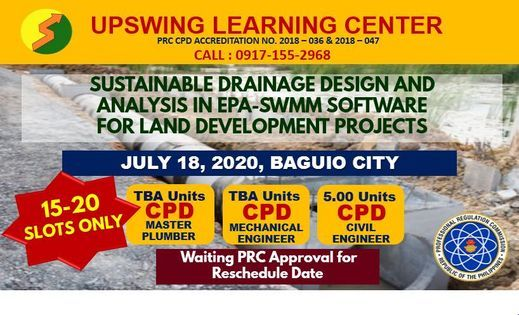 WEBINAR-Sustainable Drainage Design and Analysis in Epa-Sw, 8 November   Event in Baguio   AllEvents.in