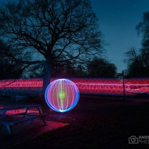 Light painting in Cassiobury Park Watford - May