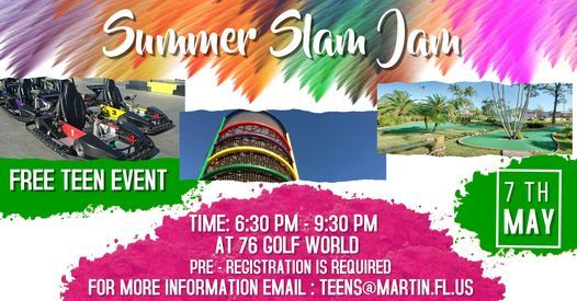 Summer Slam Jam - Free Teen Event, 7 May   Event in Hobe Sound   AllEvents.in