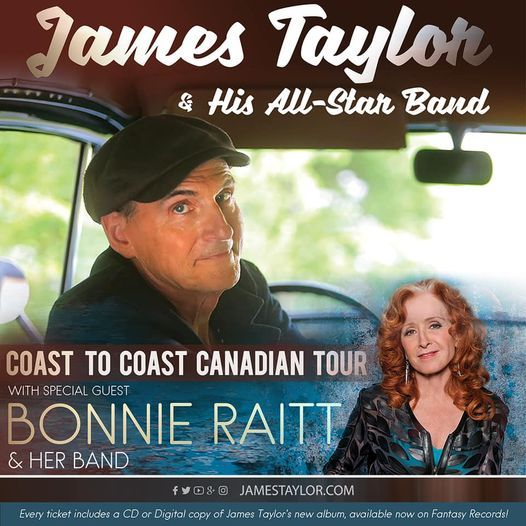 James Taylor and Bonnie Raitt / Moncton, 16 September   Event in Moncton   AllEvents.in
