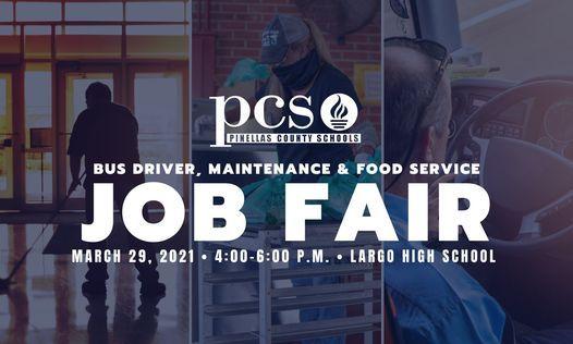 Pinellas County Schools Calendar 2022.Pinellas County Schools Job Fair Transportation Maintenance Food Service Largo High School March 29 2021 Allevents In