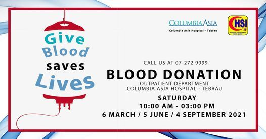Blood Donation Drive, 5 June   Event in Johor Bahru   AllEvents.in