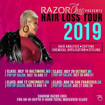 Razor Chic New York Hair Loss Tour 2019
